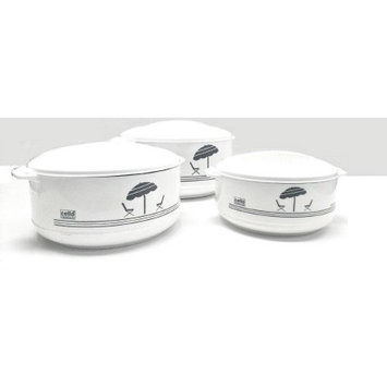Cello 3-Piece Hot Pot Insulated Casserole Hot Pack Food Warmer Gift Set