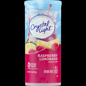 (72 Packets) Crystal Light, Raspberry Lemonade, $1.2/Oz , 12 Canisters of 6 Packets