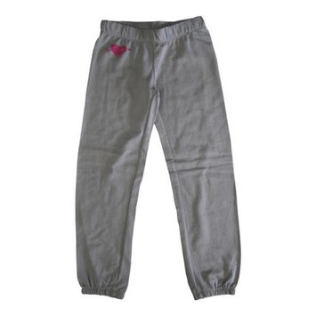 Primp Girls Grey Cupid's Studded Elastic Waist Sweat Pants 12