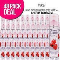 (48 PACK) SUNFLOWER Cosmetics Body Mist 1oz (Cherry Blossom) : Beauty