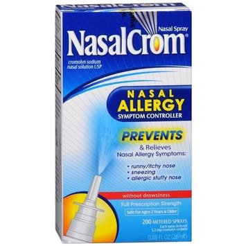 NasalCrom Nasal Allergy Symptom Controller Spray Without Drowsiness 0.88 fl oz(pack of 2)