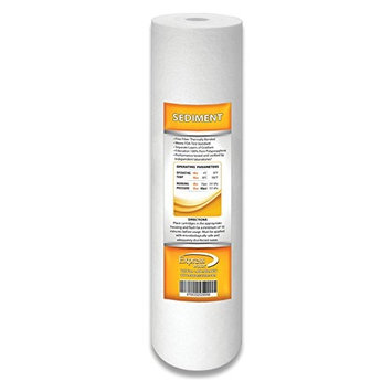 Express Water 1 Micron Sediment Water Filter Replacement Cartridge for Reverse Osmosis RO 10' X 2.5'