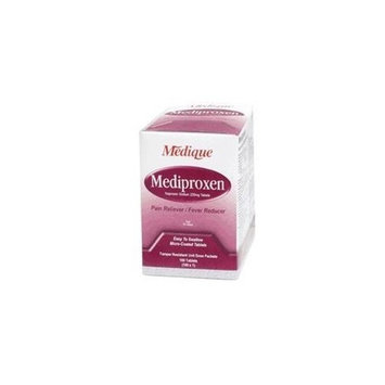 Medique Products 23733 Mediproxen Tablets, 100-Packets of 1, Pain Reliever Fever Reducer