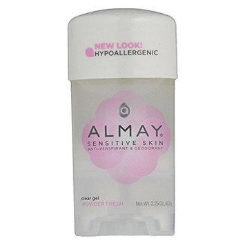 Almay Anti-Perspirant & Deodorant Clear Gel Powder Fresh 2.25 OZ - Buy Packs and SAVE (Pack of 2)