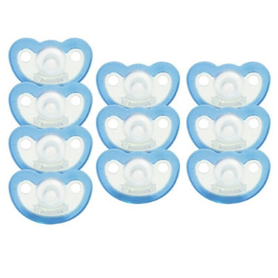 JollyPop Silicone Pacifier - Preemie - Unscented - Blue - 10 Pack
