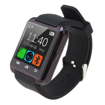 AGPtek Black U8 Bluetooth Smart Wrist Watch Phone Mate for Android Samsung HTC LG (MTK chip) With Touch Screen