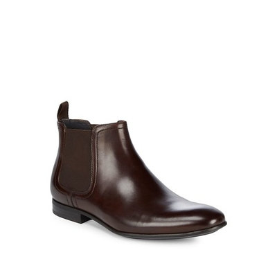 Slip-On Leather Chelsea Boots