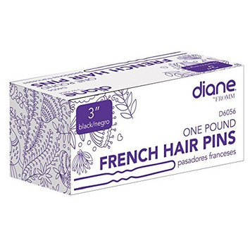 Diane French Hair Pins, Black, 3 Inch, 1 Pound
