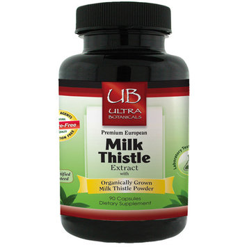 Milk Thistle Extract - Supports Liver Health, Detoxification, Helps Lower Cholesterol, Improves Cognitive Function, & Promotes Weight Loss - Emerald Laboratories (Ultra Botanicals) - 90 Capsules