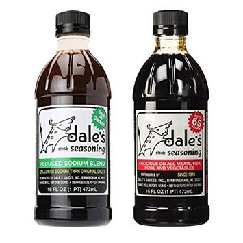 Dales Regular Steak Seasoning 16 oz & Low Sodium Steak Seasoning 16 oz (1 of each) Variety Pack