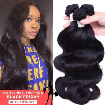 Flady Hair 10A Brazilian Body Wave Virgin Hair 3 Bundles 14 16 18inch Unprocessed Virgin Human Hair Weave Natural Black Color Remy Hair