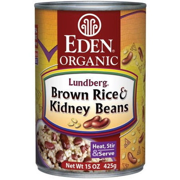Eden Organic Eden Brown Rice & Kidney Beans, Organic, 15 Ounce (Pack of 6)
