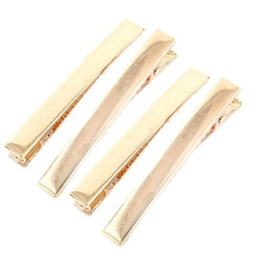 uxcell Metal Duckbill Alligator Hair Clips Hairclip Hairpins Claw Barrettes 8cm Length 4pcs Gold Tone