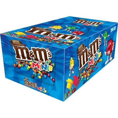 Mars Snackfood M'S Milk Chocolate MINIS Size Candy Tube, 1.77 oz 24 Count