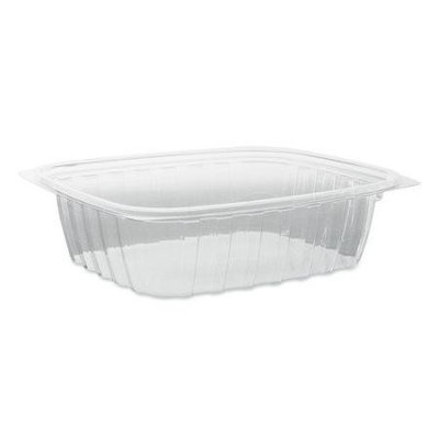 Dart C24DCPR 24 oz. Clear Rectangular Plastic Container with Lid 252 / CS