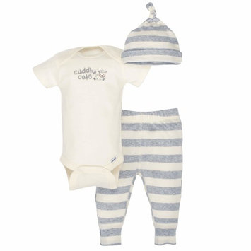 born Baby Boy or Girl Unisex Organic Take-Me-Home Outfit Set, 3pc