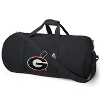 University of Georgia Duffel Bag or Georgia Bulldogs Gym Bag with Tough Metal Hardware