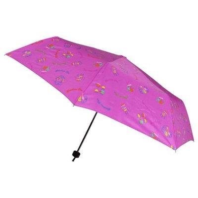 Folding Kitchen Tea Pattern Amaranth Telescopic Umbrella
