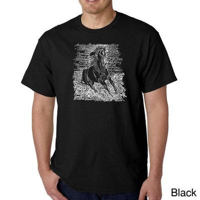 Los Angeles Pop Art Men's Word Art T-shirt - Popular Horse Breeds [Fit : Men's]