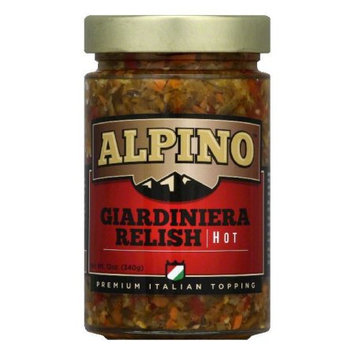 Alpino Relish Giardiniera Hot 12 Oz Pack Of 6