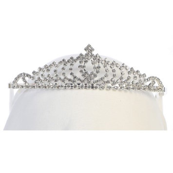 Angels Garment Girls Silver Tone Pointed Oval Shape Detail Exquisite Tiara