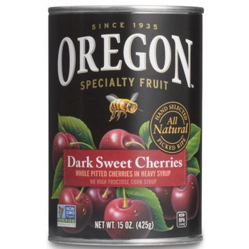 Oregon Fruit Products Oregon Fruit Pitted Dark Sweet Cherries in Heavy Syrup, 15 oz. Can