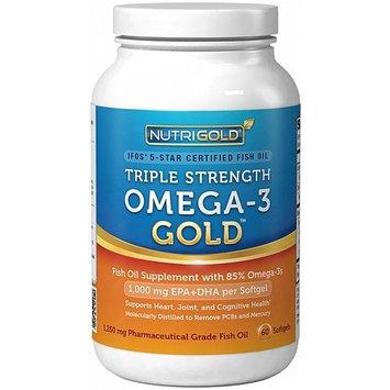 Nutrigold Triple Strength Omega-3 Fish Oil Supplement, 2100 milligrams, 60 Softgels