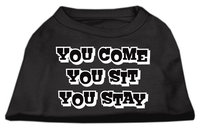 Mirage Pet Products 5151 XXXLBK You Come#44; You Sit#44; You Stay Screen Print Shirts Black XXXL 20