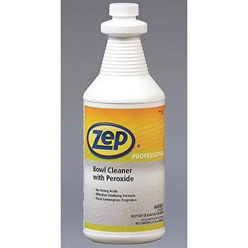 Zep Professional R00501 Bowl Cleaner with Peroxide, Lemongrass Fragrance, Green (Case of 12 Quarts)