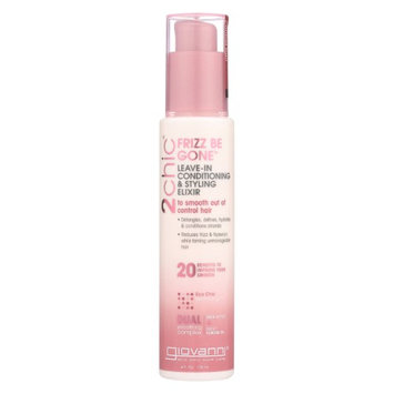 2chic Frizz Be Gone Shea Butter & Sweet Almond Oil Leave-In Conditioning Styling Elixir Giovanni 4 oz Liquid