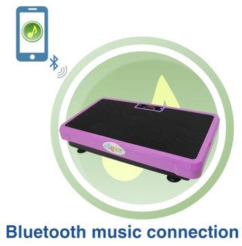 Clevr Superthin Pink Crazy Fit Full Body Vibration Platform Massage Machine MP3 Player