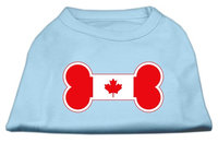 Mirage Pet Products 5110 LGBBL Bone Shaped Canadian Flag Screen Print Shirts Baby Blue L 14