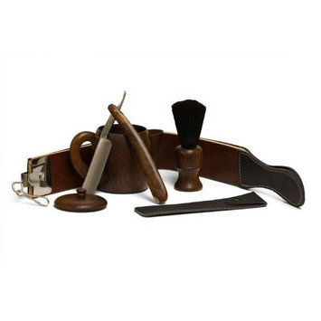 Wood Shaving Set with Leather Strop by Haryali Fashion London