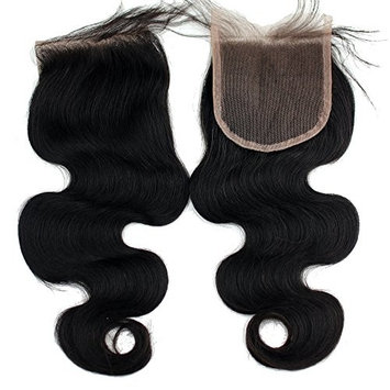 Dreambeauty 4x4inch Lace Closure Unprocessed Virgin Hair Body Wave Bleached Knots Free Part Top Closure 18inch