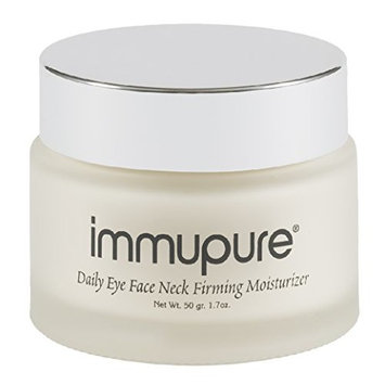 Immupure Daily Eye Face Neck Firming Moisturizer - With Colostrum. Firm Skin, Increased Elasticity, 400% Boost in Collagen & Elastin.