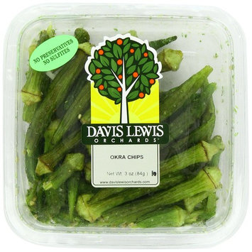 Davis Lewis Orchards Okra Chips, 3 Ounce