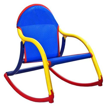 Blue Mesh Rocking Chair