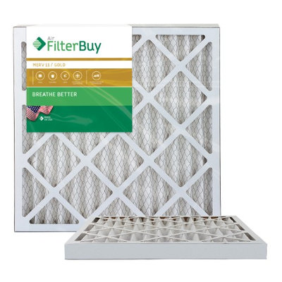 AFB Gold MERV 11 21x22x2 Pleated AC Furnace Air Filter. Filters. 100% produced in the USA. (Pack of 2)