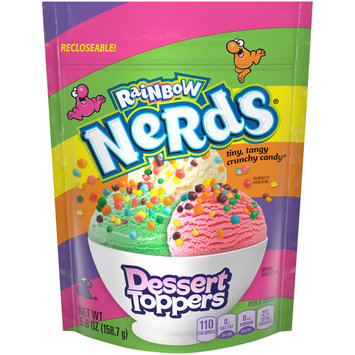 (2 Pack) Nerds Dessert Toppers Rainbow Candy, 5.6 Oz