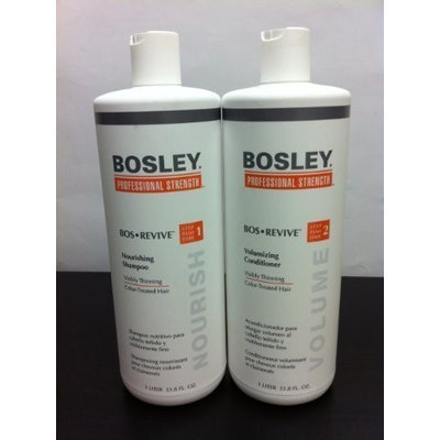 Bosley Revive Nourishing Shampoo & Conditioner 33.8oz Duo Set for Color Treated Hair