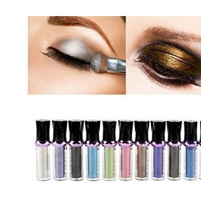 Ferbixo New 10 Roller Colors Eyeshadow Glitter Pigment Bright Eye Shadow Cosmetic Ultra Brilliant Eyeshadow