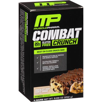 Muscle Pharm Combat Crunch Chocolate Chip Cookie Dough Baked Protein Bars, 4 count, 8.89 oz
