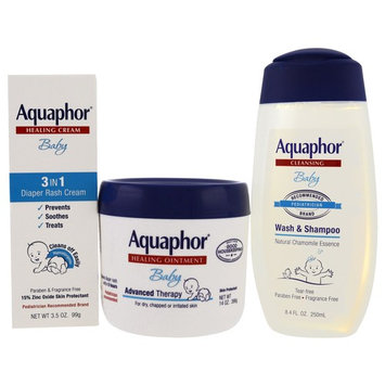 Aquaphor, Baby Care, Welcome Baby, 3 Piece Set, Small, 3 Pieces