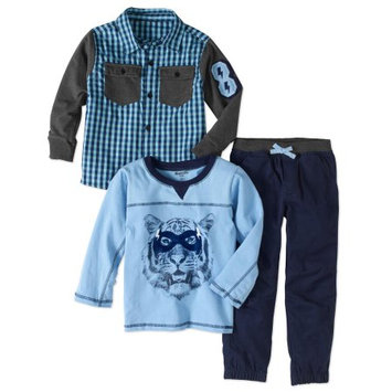 Nannette 3-Pc. Plaid Shirt, Shirt & Pants Set, Toddler & Little Boys (2T-7)