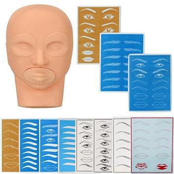 DZT1968 Practice Model Head And Practice Skin For Permanent Tattoo Makeup Eyebrow Set