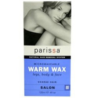 Parissa Warm Wax Hair Removal Waxing Kit, Professional Strength for Body Waxing, 4 fl oz (120ml) Wax, 3 Spatulas, 20 Strips & 8ml Azulene Oil