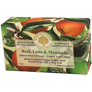 Australian Soapworks Wavertree & London 200g Soap Set of 4 - Basil Lime & Mandarin