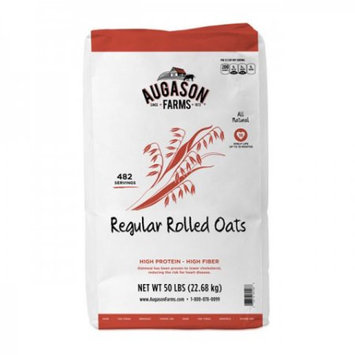 Blue Chip Group Augason Farms Regular Rolled Oats, 482 Servings, 18 Month Shelf Life, 50 Pound Bag