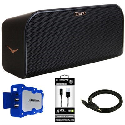 Klipsch KMC3 Wireless Music System with Bluetooth Black w/ Power Bank Bundle