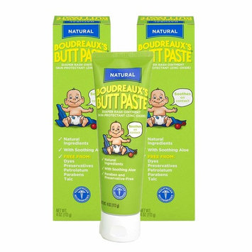Boudreaux's Butt Paste Diaper Rash Ointment   With Natural Aloe   4 Oz   Pack of 2 [4 oz - Pack of 2]